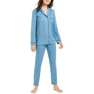 NWT! Alfani Super Soft Printed LS 2pcs Pajama Set